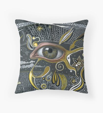 Eye in the sky. Throw Pillow