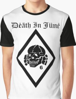 Death in June Punk Rock Custom Khaki Army Green Graphic T-Shirt