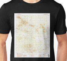 USGS TOPO Map Arizona AZ Waterman Peak 313981 1989 24000 Unisex T-Shirt