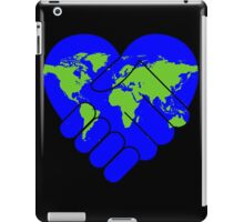 Cooperation,earth,peace,love of earth,contemporary art,modern,hands shaking hands iPad Case/Skin