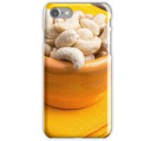 Selective focus on raw cashew nuts closeup iPhone Case/Skin