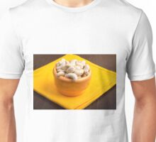 Selective focus on raw cashew nuts closeup Unisex T-Shirt