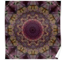 Mandala in violet, yellow and red tones Poster