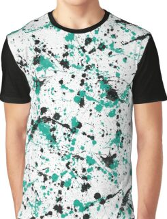paint drop design - abstract spray paint drops 6 Graphic T-Shirt