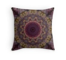 Mandala in violet, yellow and red tones Throw Pillow
