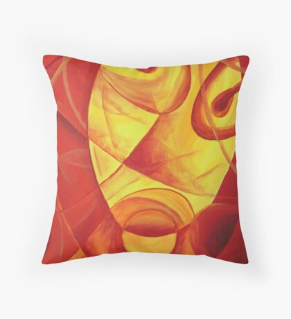 Oil Painting - The Scarred Blonde's Portrait. 2011 Throw Pillow