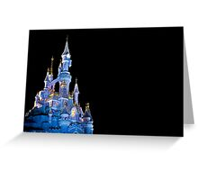 Sleeping Beauty Castle - Christmas Lights (Disneyland Paris) Greeting Card