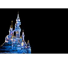 Sleeping Beauty Castle - Christmas Lights (Disneyland Paris) Photographic Print