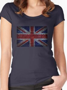 UK Flag vintage Women's Fitted Scoop T-Shirt