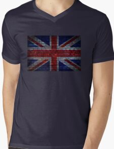 UK Flag vintage Mens V-Neck T-Shirt