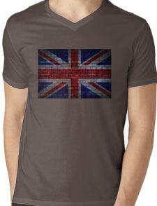 UK Flag vintage Mens V-Neck T-Shirt