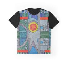 Colourful Mosaic Wall Arts of Wales Graphic T-Shirt