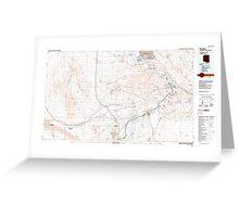 USGS TOPO Map Arizona AZ Parker 315278 1985 100000 Greeting Card