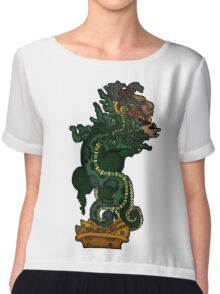 Mayan Serpent God Chiffon Top