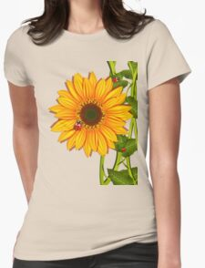 Sunflower Ladybugs Womens Fitted T-Shirt