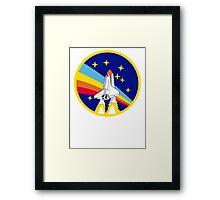Rainbow Rocket Framed Print