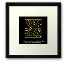 pac man video game  Framed Print