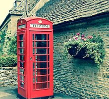 Red Telephone Box in England by Marie  Cardona