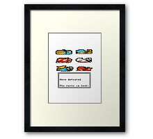 GAME OVER (with text) Framed Print