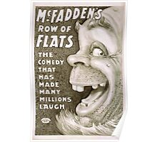 Performing Arts Posters McFaddens row of flats the comedy that has made many millions laugh 1300 Poster