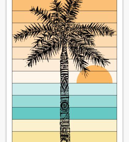 Palm Tree Sketch (Sunset) Sticker