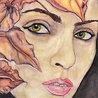 Portrait with Leaves by Kaitlee Venable