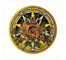 Sabbat Pentacle for Mabon the Autumnal Equinox Art Print