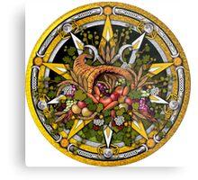 Sabbat Pentacle for Mabon the Autumnal Equinox Metal Print