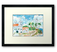 Lighthouse and Mosque, Galle Fort Framed Print