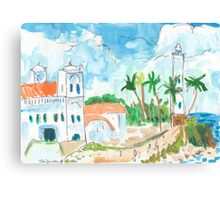 Lighthouse and Mosque, Galle Fort Canvas Print