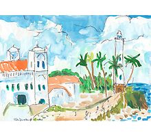 Lighthouse and Mosque, Galle Fort Photographic Print