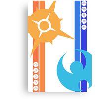 Sun & Moon - Pokemon Canvas Print