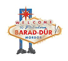 Welcome to Barad-Dur Photographic Print