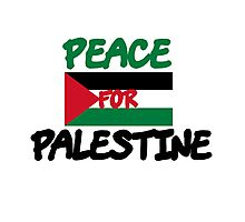 Peace for Palestine Photographic Print