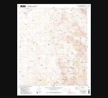 USGS TOPO Map Arizona AZ Wilbur Canyon 314100 1980 24000 Unisex T-Shirt
