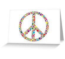 Peace Symbol with Polka Dots Illustration Greeting Card