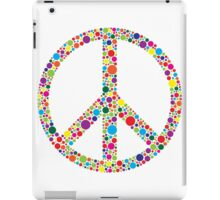 Peace Symbol with Polka Dots Illustration iPad Case/Skin