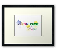 Hawthorne Wipes - Transparent Framed Print