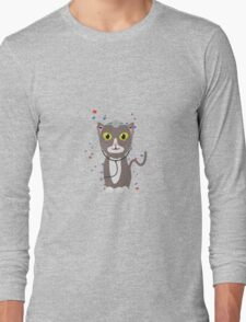 Cat with medical equipment   Long Sleeve T-Shirt