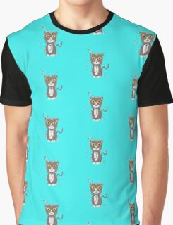 Cat with medical equipment   Graphic T-Shirt