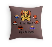 Bahamut, King of the Dragons Throw Pillow
