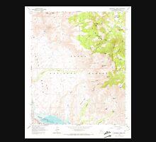 USGS TOPO Map Arizona AZ Greenback Creek 311576 1964 24000 Unisex T-Shirt