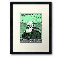 Illustrating Great Minds - Charles Darwin Framed Print