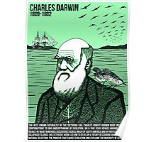 Illustrating Great Minds - Charles Darwin Poster
