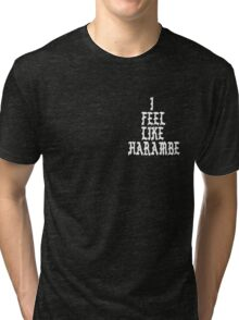 Harambe: I Feel Like Harambe  Tri-blend T-Shirt