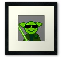 Yoda Shades Framed Print