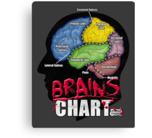 Brains Chart Canvas Print