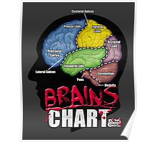 Brains Chart Poster