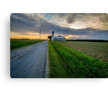Sunset Farm Country Life Canvas Print