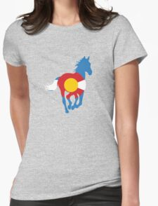 Colorado Wild Horses: Colorado Hometown Series Womens Fitted T-Shirt